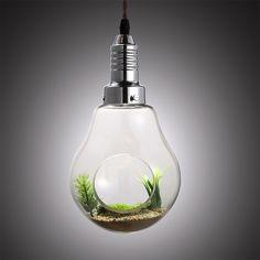 Clear Glass Bulb Shape Plant Holder Single Light Mini Pendant Lamp - Pendant Lights - Ceiling Lights - Lighting
