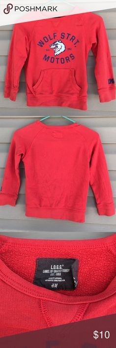 L.O.G.G. Boys sweatshirt Like new pullover sweatshirt with front pockets.100% cotton. No stains or holes H&M Shirts & Tops Sweatshirts & Hoodies