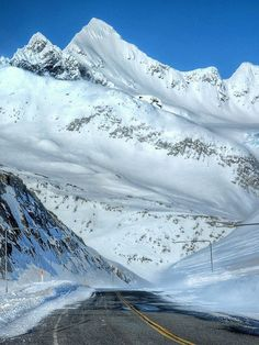 Thompson Pass..Over 550 inches a year on average. That's 45 feet of snow a year. Near Valdez.