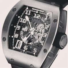 For futuristic outstanding look #RichardMille #RM010 #18kWhiteGold => www.timepiecetrader.com