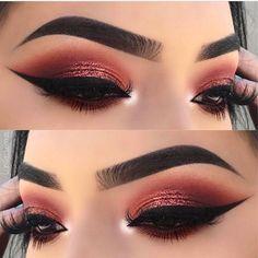 "Eye Makeup ✨  @lupita_lemus #hudabeautydesertdusk 2 DAYS left #hudabeautyseptember18"""