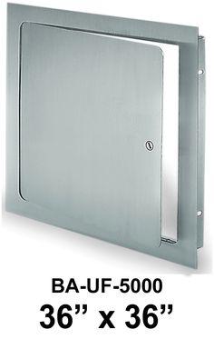 "Best Access Doors - 36"" x 36"" Universal Flush Premium Access Door with Flange, $255.41 (http://www.bestaccessdoors.com/screwdriver-operated-cam-latch-standard-0-00/)"