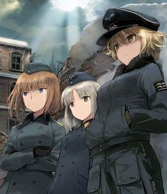 Anime Military, Military Girl, Ww Girl, Guerra Anime, Manga Anime, Anime Art, Brave Witches, Character Art, Character Design