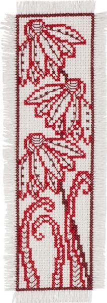 Red Flower Bookmark - Cross Stitch Kit