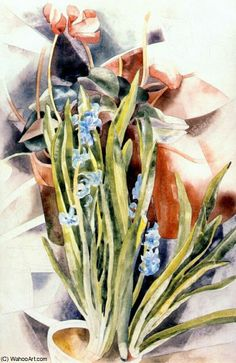 Charles Demuth Flower Study No. 1 (also known as Cyclamen and Hyacinth) - The Largest Art reproductions Center In Our website. Low Wholesale Prices Great Pricing Quality Hand paintings for saleCharles Demuth Charles Demuth, Art Aquarelle, Art Institute Of Chicago, Large Art, Art Reproductions, American Artists, Oeuvre D'art, Art For Sale, Art Boards