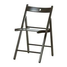 IKEA - TERJE, Folding chair, You can fold the chair, so it takes less space when you're not using it.The hole in the seat allows you to hang it on the wall, so it takes less room when you're not using it. Hang on Wall above folding table. Ikea Folding Chairs, Ikea Dining Chair, Desk Chair, Dining Room, Home Decor Furniture, Dining Furniture, Design Ikea, Foldable Chairs, Welding Projects