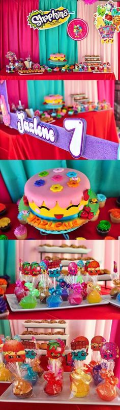 Best Ever Shopkins Birthday Party decorations and ideas. My kids would flip over this amazing Shopkins birthday cake!
