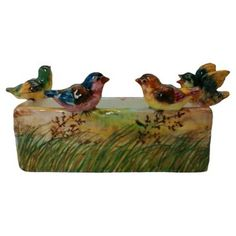 Check out this item at One Kings Lane! Majolica Birds Jardiniere