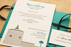 Lauren + Jeremy's Illustrated Historical Australian Wedding Invitations | Design and Photo Credits: Laura Macchia | Letterpress Printing: May Day Studio