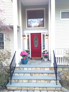 midnight blue shutters heritage red benjamin moore door