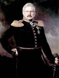 П. 3. 3 ах а р о в (Захаров-Чеченец). Портрет генерала А. П. Ермолова. 1843