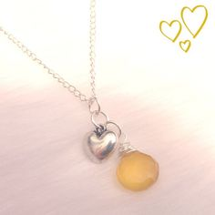 Golden yellow chaldedony necklace by Intentional, $27.00