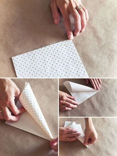 This would make a great treat-holder for parties or holiday neighbor-gifts. So simple and inexpensive to make.