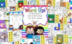 Word Up! Work Activities for Short Vowels
