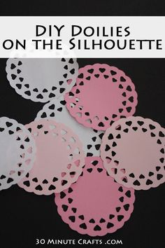 Free Silhouette Cut File - DIY Doilies for Valentine's Day Crafting and decorating