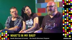 """Sarah Silverman & friends talk """"What's In My Bag?"""" at Amoeba Music.    arah Silverman, Laura Silverman, Brian Posehn, Steve Agee and Jay Johnston starred in the television series The Sarah Silverman Program on Comedy Central. The series, which lasted three seasons from 2007-2010, featured Sarah Silverman as a fictionalized version of herself with real-life older sister Laura playing her younger sister, Brian Posehn and Steve Agee as her geeky gay neighbors, and Jay Johnston as """"Officer Jay."""""""