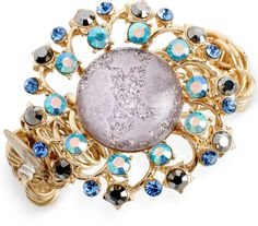 Betsey Johnson Gold-Tone Star and Cloud Cabochon Stretch Bracelet on shopstyle.com Spring Summer 2015, Fall 2015, Spring Summer Fashion, Stretch Bracelets, Betsey Johnson, Bracelet Watch, Brooch, Clouds, Stars