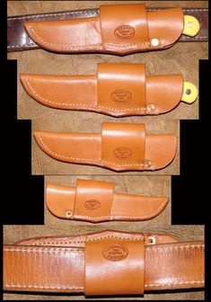 Horizontal sheath. Moore Maker Knives made in Matador #Texas
