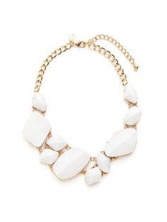 White bib necklace