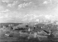 After the Latter-day Saints were driven out of Missouri, they settles in Nauvoo, Illinois on the banks of the Mississippi River which became a thriving city for about seven years.