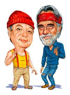 Cheech Marin and Tommy Chong as Cheech and Chong ...artwork by www.ExaggerArt.com