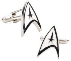 Star Trek Delta Shield Cuff Links  -also ...add diy printables www.customweddingprintables.com
