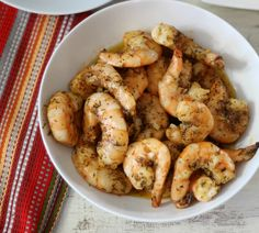 Baked Blackened Shrimp - A simple, slightly spicy, smokey baked shrimp that has marinated in olive oil and seasoned with Black Seasoning.