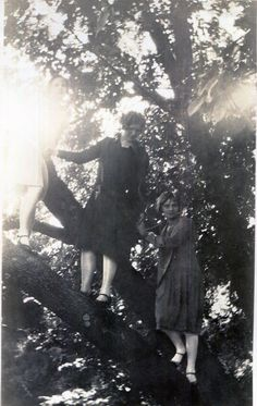 Vintage Photos..Girls in the Trees 1930's, Original Photo, Old Photo Snapshot, Vernacular Photography, American Social History Photo by iloveyoumorephotos on Etsy