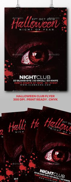 Halloween Flyer Flyer template, Template and Font logo - benefit flyer templates