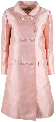 Buy second-hand JEAN PATOU dresses for Women on Vestiaire Collective. Buy, sell, empty your wardrobe on our website. Jeans Dress, Shirt Dress, Pink Silk Dress, Pink Jeans, Double Breasted Coat, Mid Length Dresses, Designer Dresses, 1960s, Clothes For Women
