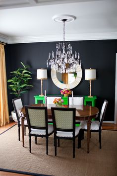 colorful home tour black dining roomsformal - Dining Room Set Up
