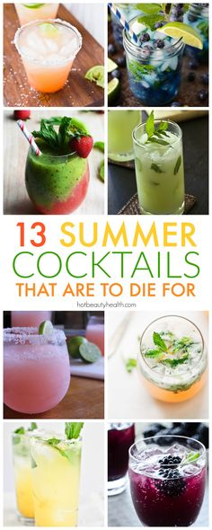 13 easy summer cocktails with recipes created by some of my favorite food bloggers. Perfect to serve for a crowd and made with different types of alcohol (vodka, rum, and more!).