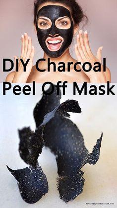 DIY Charcoal Peel Off Maske-Charcoal Mask-Mask Entfernung-Easy Diy – Tipps … Charcoal Mask Benefits, Charcoal Peel Off Mask, Charcoal Mask Peel, Homemade Charcoal Mask, Homemade Face Masks, Diy Face Mask, Mascarillas Peel Off, Diy Peel Off Mask, Peel Off Maske