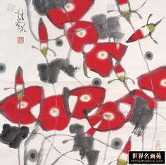 张桂铭 荷花 镜片