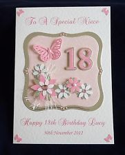 Personalised Handmade Birthday Card 16th 21st 30th 40th 50th 60th | eBay