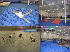 Lowes Xtreme Air Sports an open gym with trampolines, foam pits, and a rock climbing wall. More information found on the website: http://www.lowesairsports.com/