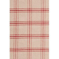 Cooper Red Plaid Rug