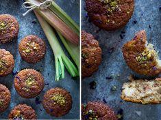 Pomerančové muffiny - kardamom, rebarbora