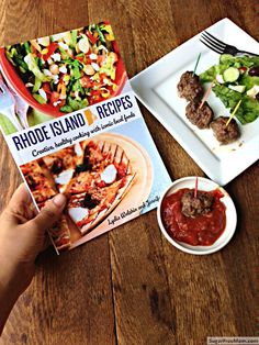 @Sugar-Free Mom shares the spicy meatballs and thoughts on Rhode Island Recipes - a new cookbook that takes the iconic food products of #RI but used them as ingredients in every day recipes.