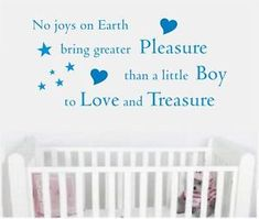 Wall art quote sticker decal boy baby nursery