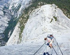 Hiking Yosemite Half Dome has so far been my most dangerous crazy adventure yet. Here's me descending down the Cables with almost a mile's drop down to the valley floor beside me. If you'd like to read about my experience on one of USA's most dangerous hikes check out my new post at globecalledhome.net! #yosemite #NPS