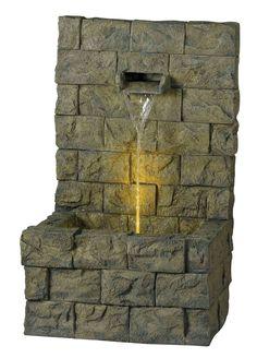 Garden 1 Light Wall Outdoor Floor Fountain