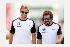 Jenson Button and Fernando Alonso, McClaren