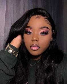 Cute Makeup Looks, Makeup Eye Looks, Creative Makeup Looks, Eye Makeup, Hair Makeup, Baddie Makeup, Makeup For Black Skin, Black Girl Makeup, Girls Makeup