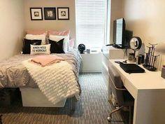 Small room bedroom - 56 cute girls bedroom ideas for small rooms 4 Couple Bedroom, Small Room Bedroom, Room Ideas Bedroom, Cozy Bedroom, Modern Bedroom, Contemporary Bedroom, Bed Room, Bedroom Black, Trendy Bedroom