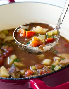 Quick And Easy Beef Vegetable Soup Soup Soup Stew . Quick And Easy Beef Vegetable Soup New Mom Starting From . Home and Family Beef Soup Recipes, Healthy Chicken Recipes, Cooking Recipes, Steak Recipes, Cooking Time, Vegetable Recipes, Crockpot Recipes, Slow Cooker Pasta, Slow Cooker Chicken