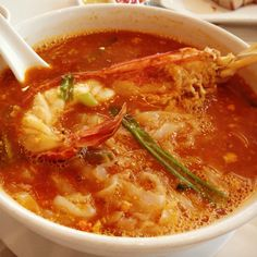 Giant prawn n noodles