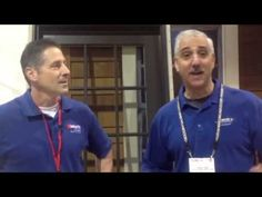 Hastings' John Tyler and Marshall Baser gear up for a busy day of installation demos at JLC Live.