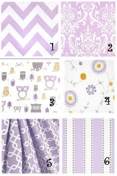 Baby Girl Nursery Fabric Valance ,Purple Lavender Pillow Cover, Crib Skirt, Curtains on Etsy, $21.00
