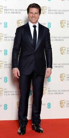 See the Looks from the2015 BAFTAs Red Carpet - Tom Cruise from #InStyle